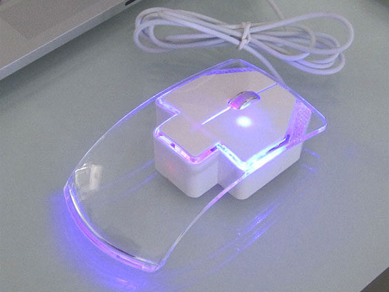 (Art. CLM129XT) Crystal Mouse con Luz